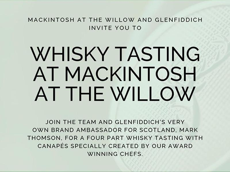 Whisky Tasting at Mackintosh at the Willow