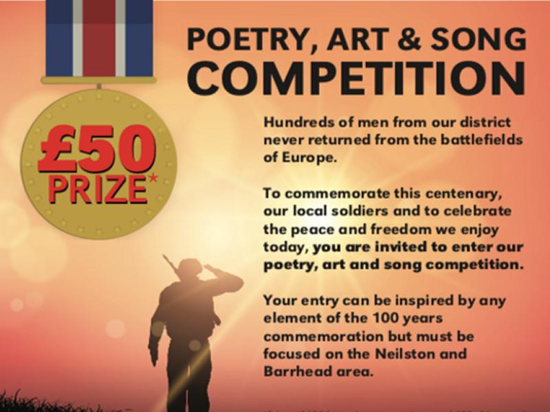 WW1 100 year poetry, art & song competition