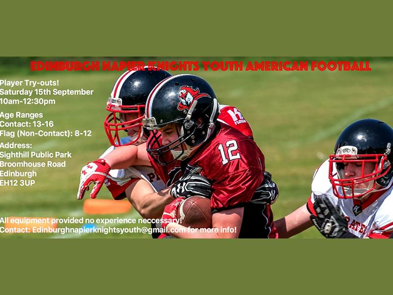 Edinburgh Knights Youth Try-outs!