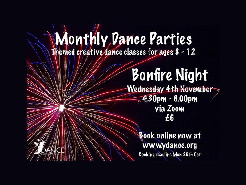 Monthly Dance Parties - Bonfire Night
