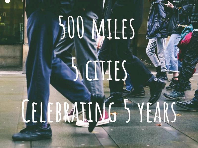 Invisible Cities: 500 miles, 5 cities, celebrating 5 years of helping those affected by homelessness