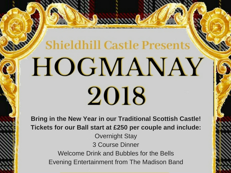 Hogmanay Ball at Shieldhill Castle