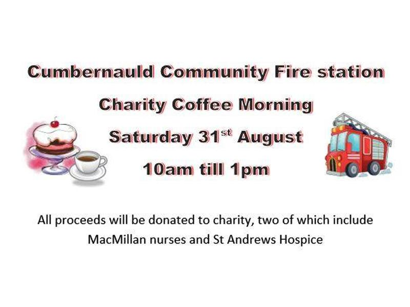 Cumbernauld Community Fire Station Charity Coffee Morning