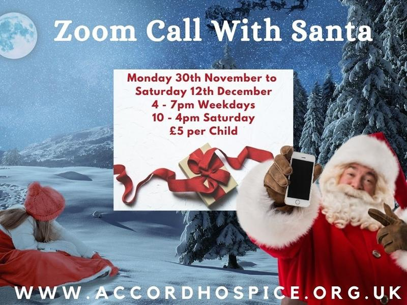 Zoom call with Santa for ACCORD Hospice