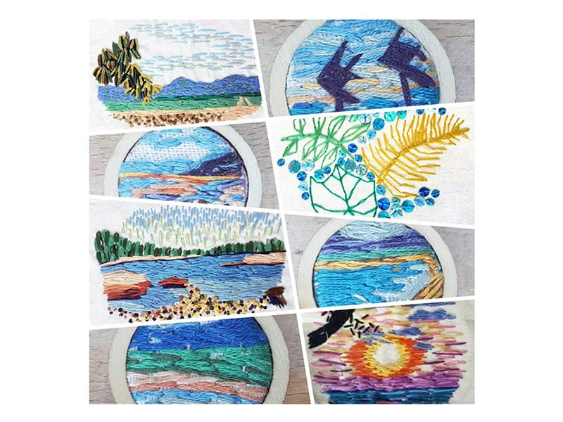 Miniature Landscape Embroidery Workshop