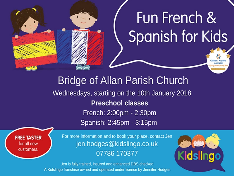 Kidslingo French and Spanish: Bridge of Allan