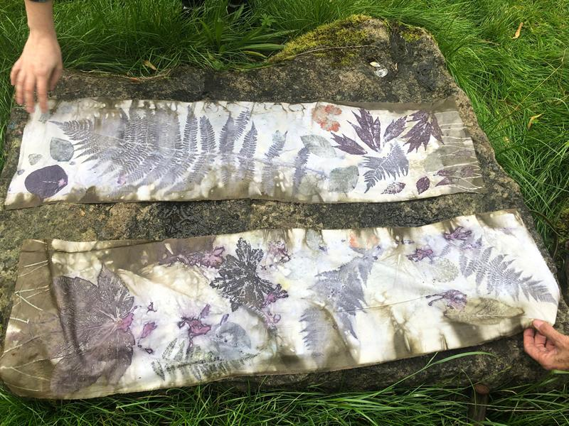 Eco Print Your Scottish Leaves For Textile Art Workshop