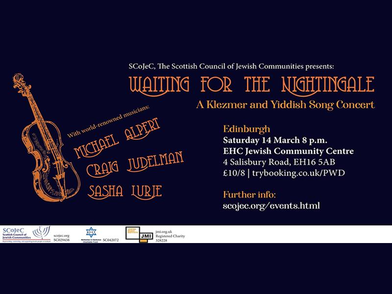 'Waiting for the Nightingale' - Klezmer and Yiddish Concert