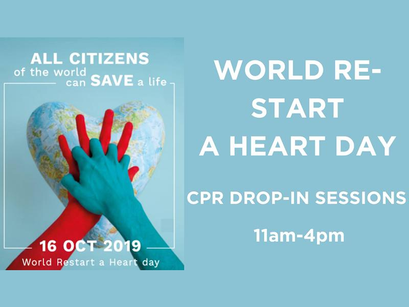 World Re-start A Heart Day: CPR Drop-In
