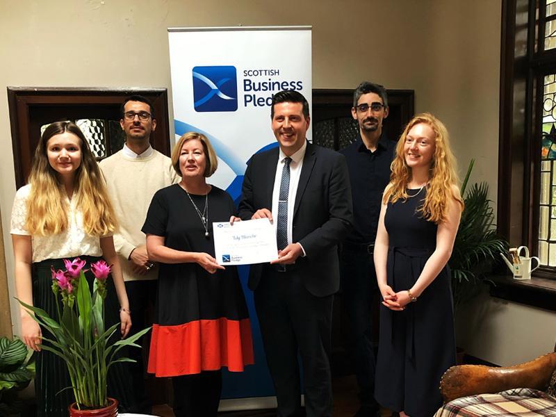 Business Minister Jamie Hepburn Visits Lily Blanche Stirling
