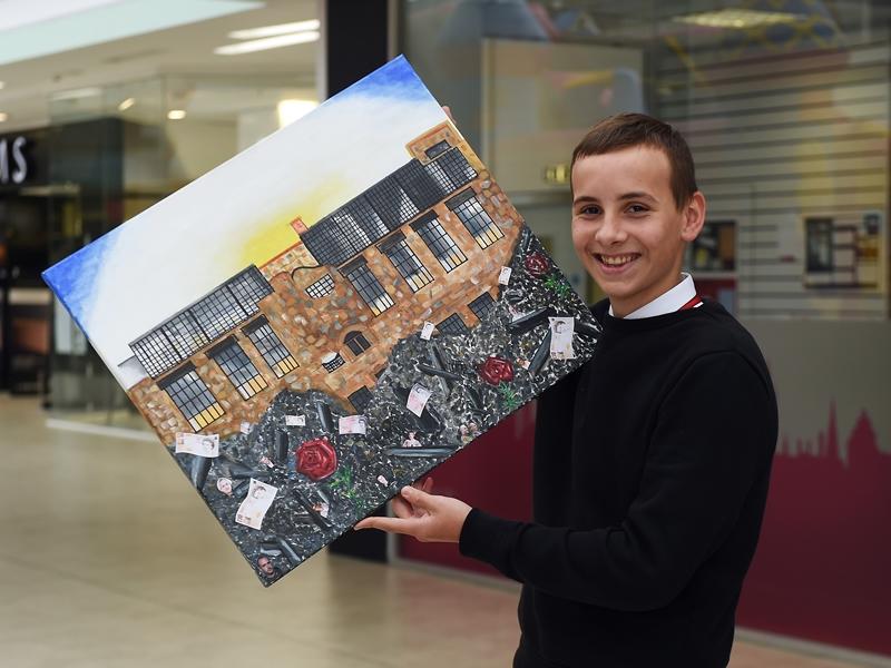 Pupils scoop top award at Mackintosh inspired art show