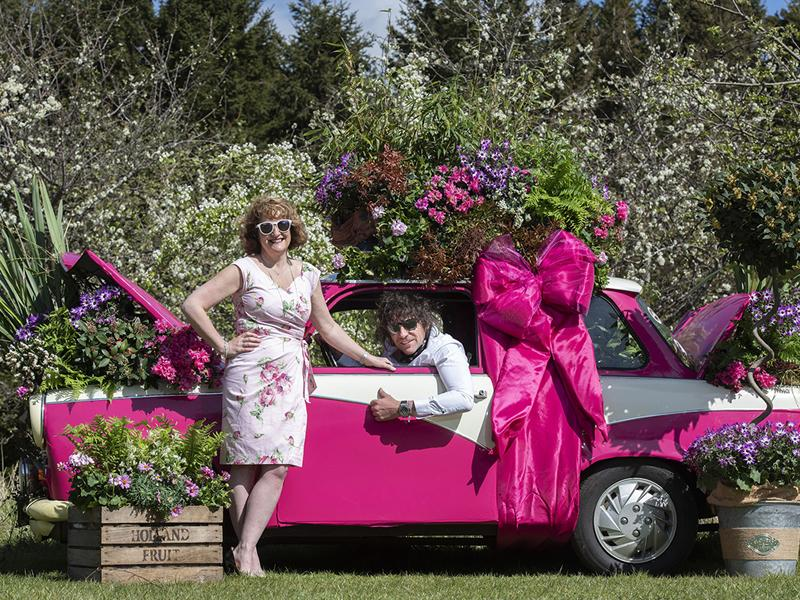 Scots firm celebrates milestone birthday by transforming classic car into a stunning display