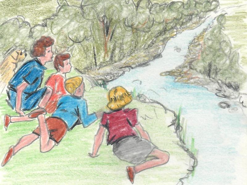 The Famous Five return to the Water of Leith