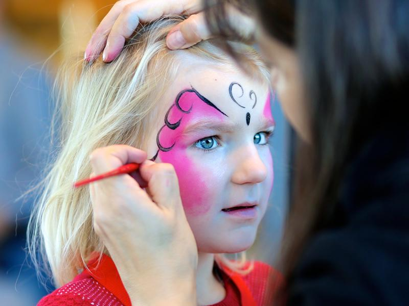 Face Painting at the Forge Market