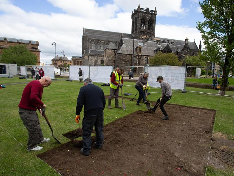 Archaeologists go underground to unearth secrets of Paisley landmark