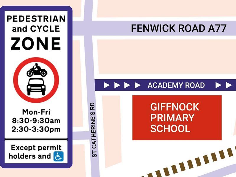Giffnock Primary School School Street trial set to launch