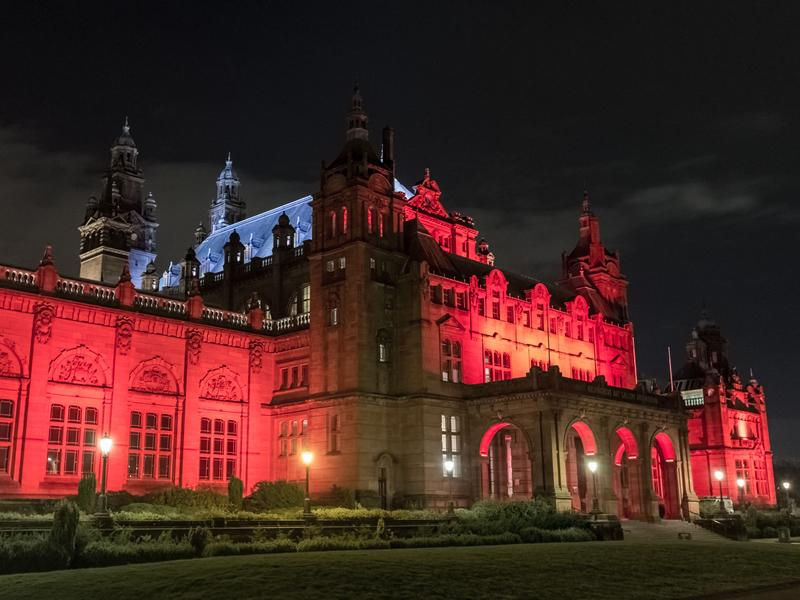 Glasgow shines a light on the armed forces for Scottish Poppy Appeal
