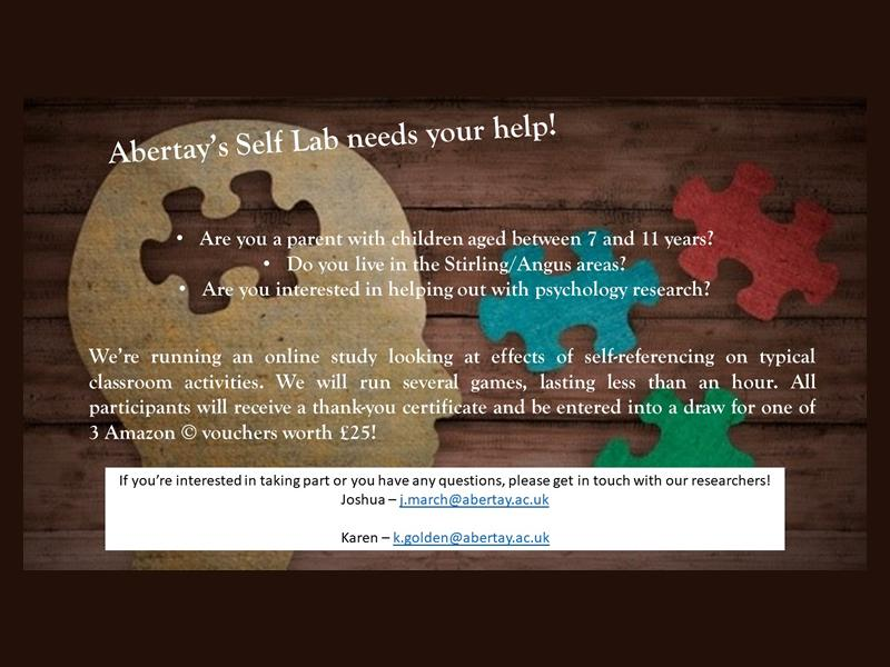 Self Referencing in the Classroom Study for Children