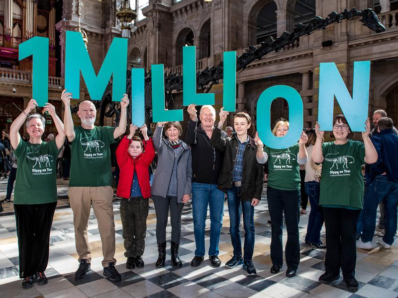 Dippy on Tour surpasses one million visitors milestone!