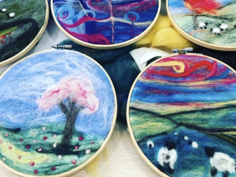 The Wee Art Studio: Online Mother's Day Needle Felt Spring Themed Workshop