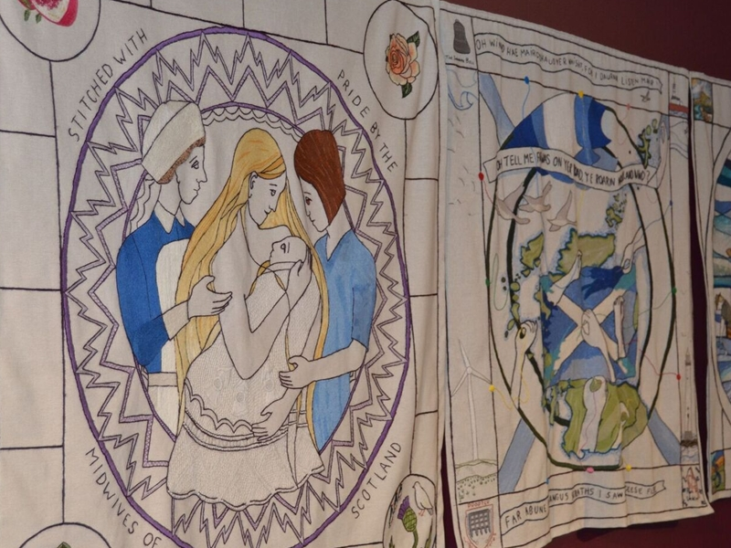New Great Tapestry of Scotland panel unveiled for the first time at exhibition in New Lanark