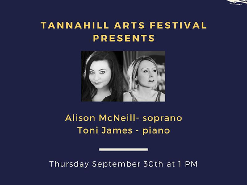 Song Recital with Toni James (piano) and Alison McNeil (soprano)