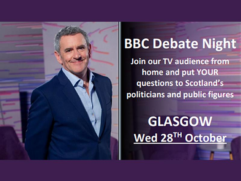 BBC Debate Night calls for audience members in Glasgow