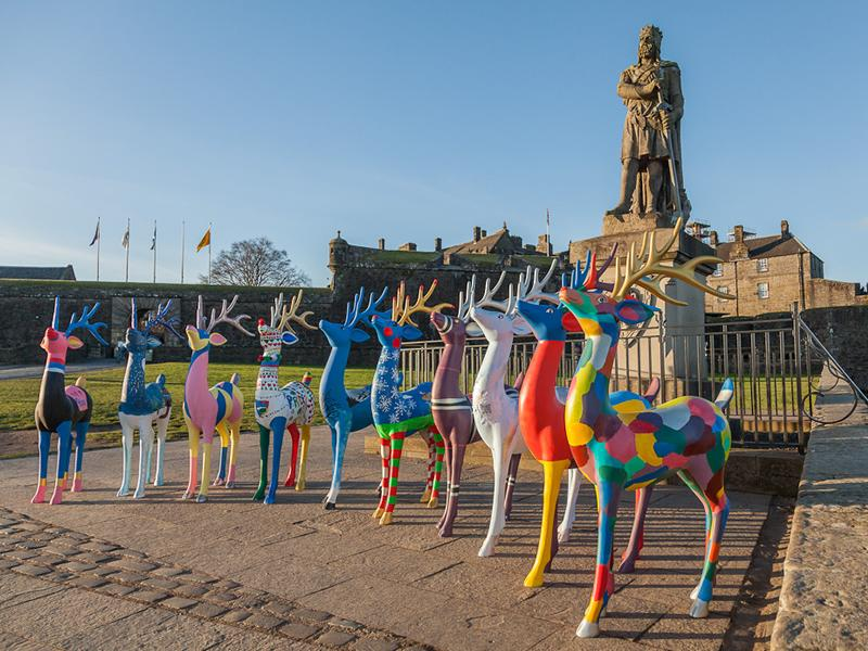 Stirling Reindeer Trail Finishes With a Visit to Stirling Castle