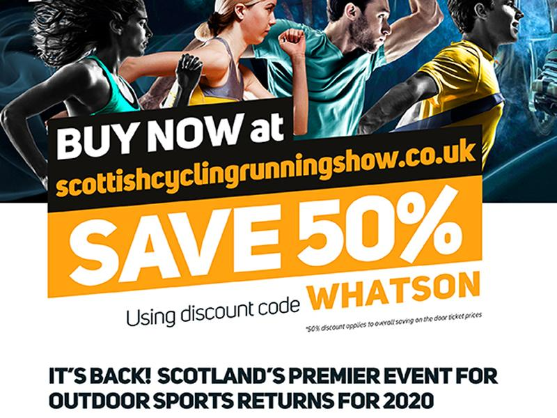 Get discounted tickets to the Scottish Cycling, Running & Outdoor Pursuits Show
