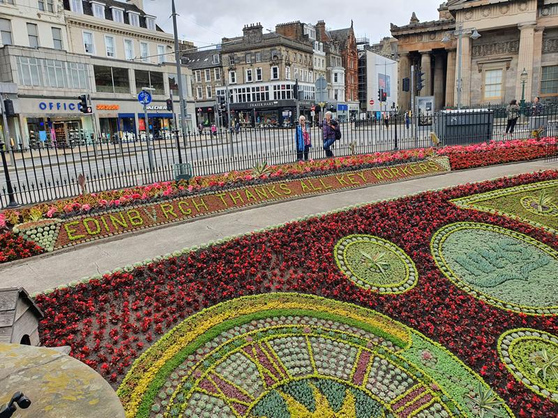 Historic floral clock in West Princes Street Gardens pays tribute to NHS and key workers