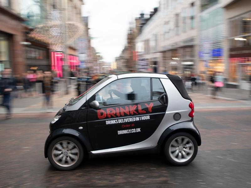 Drinkly delivers to Glasgow