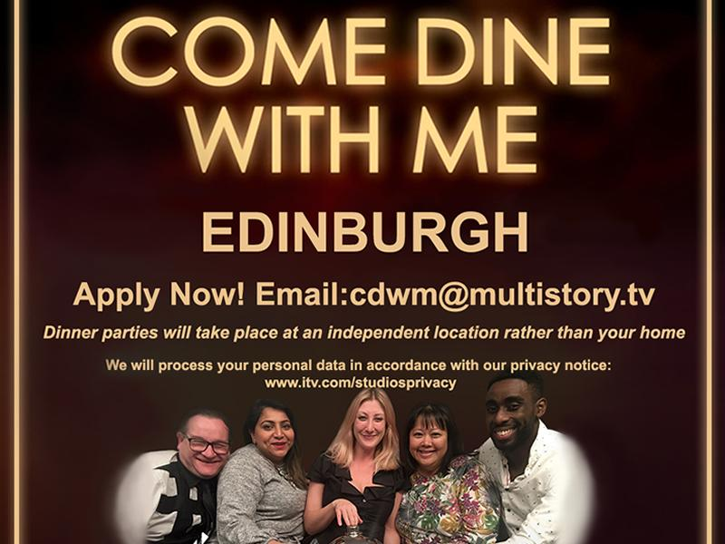 Come Dine With Me is returning and budding Edinburgh chefs are being invited to apply!