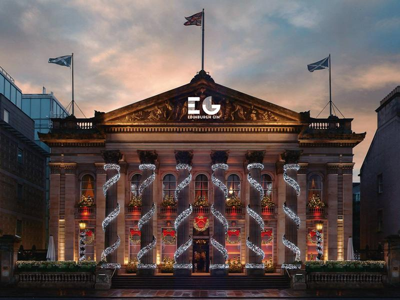 Edinburgh Gin Advert premieres with projection onto The Dome