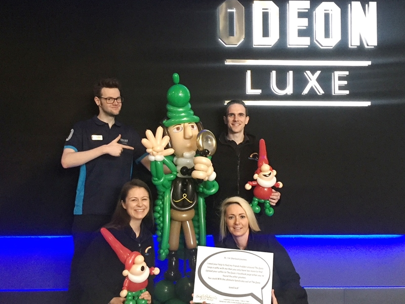 Unique Sherlock Gnomes activity at Glasgow entertainment complex