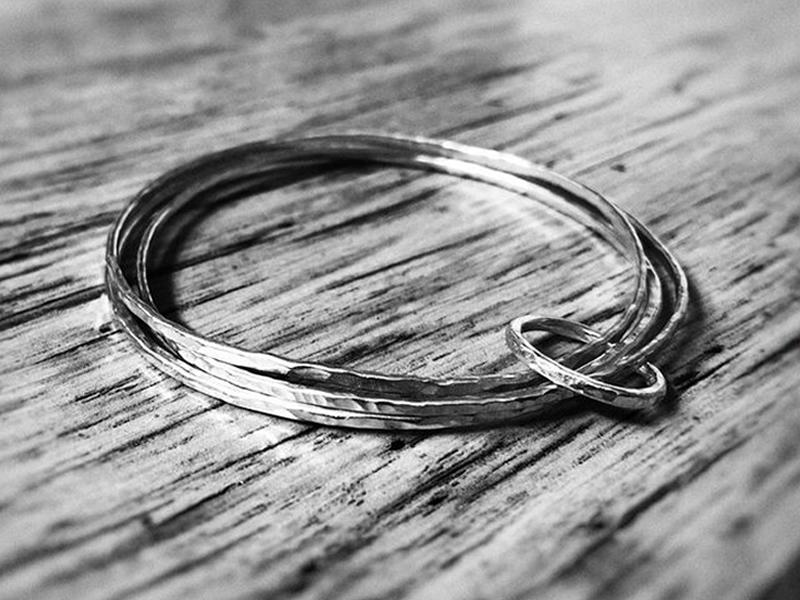 Set of Silver Bangles and Ring Workshop