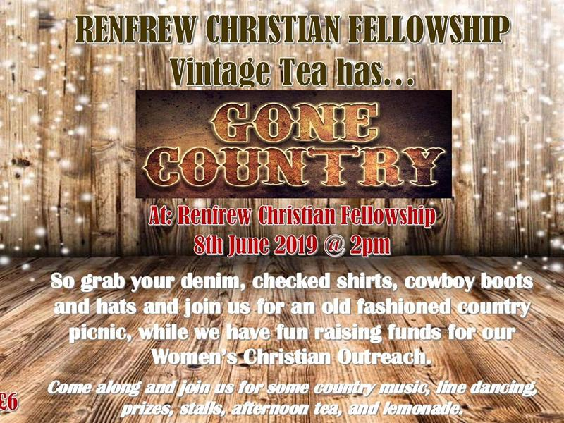 Vintage Tea Gone Country