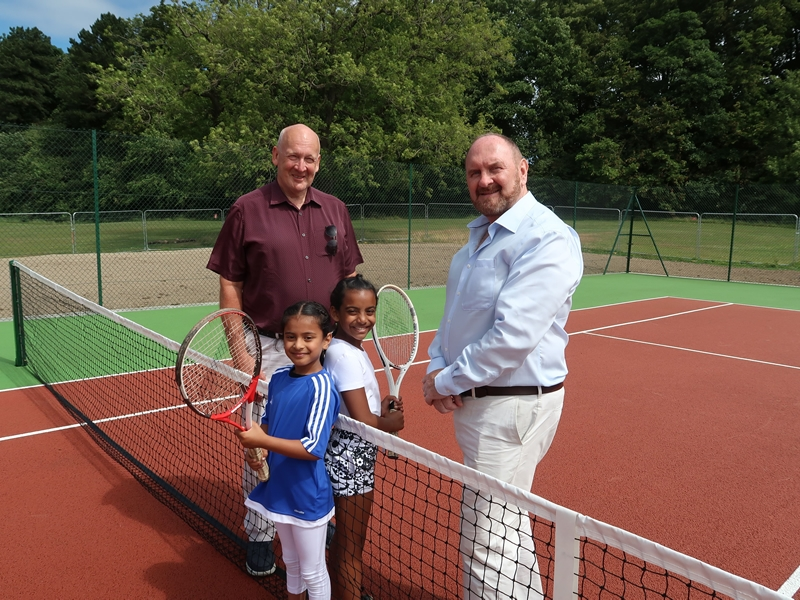 New tennis courts served up for Rouken Glen Park