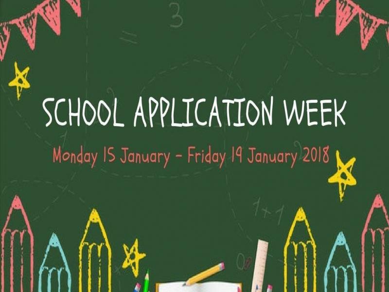 School application week announced