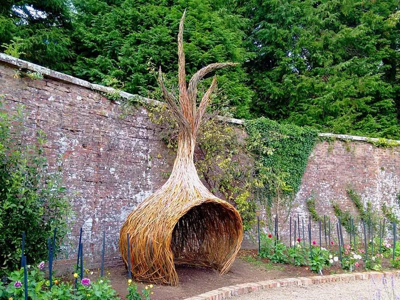 Spot willow sculptures in the walled garden at Culzean