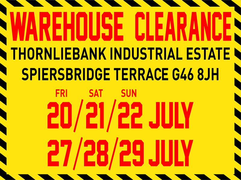 Pagazzi are holding a massive warehouse clearance sale!