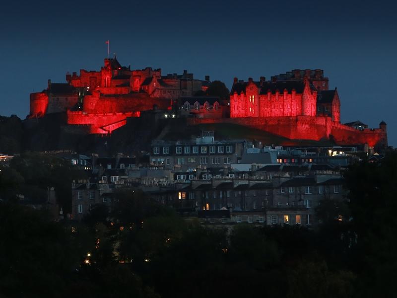 Scottish landmarks illuminate to support Paisley 2021