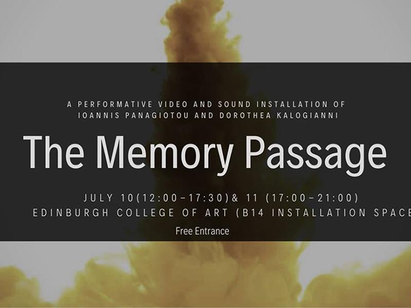 The Memory Passage: video and sound installation