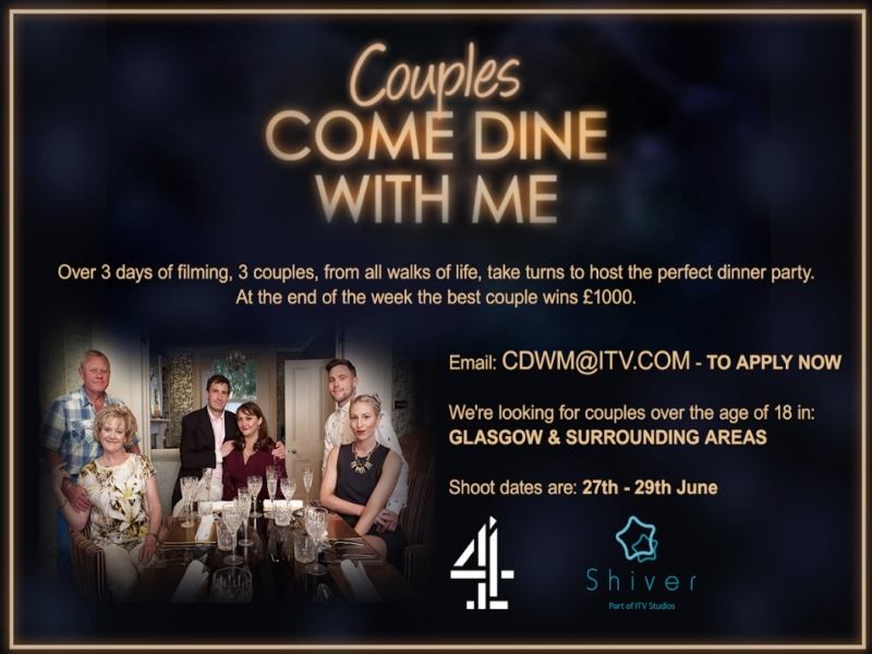 Couples Come Dine With Me is back and looking for energetic couples in Glasgow!