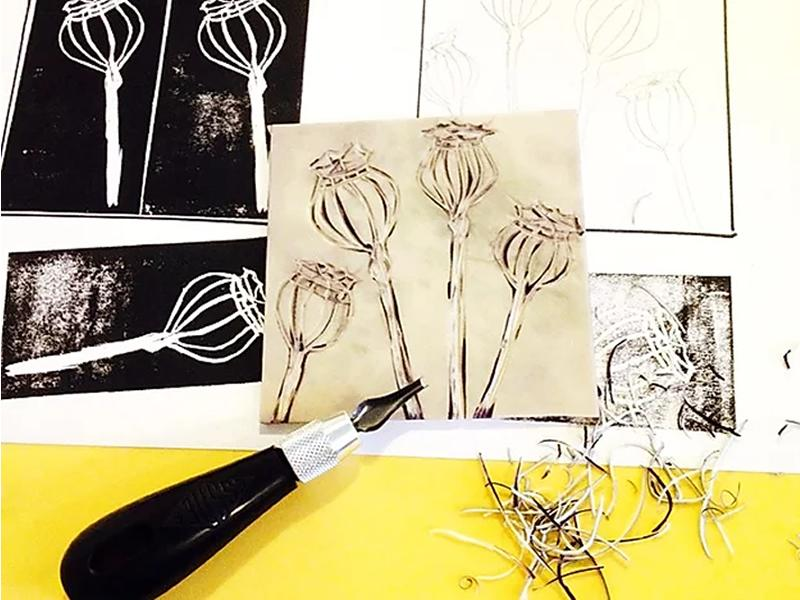 Lino-printing onto Paper - POSTPONED