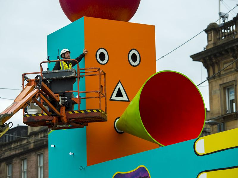 George Square transformed into a spectacular playground as the beating heart of Glasgow 2018