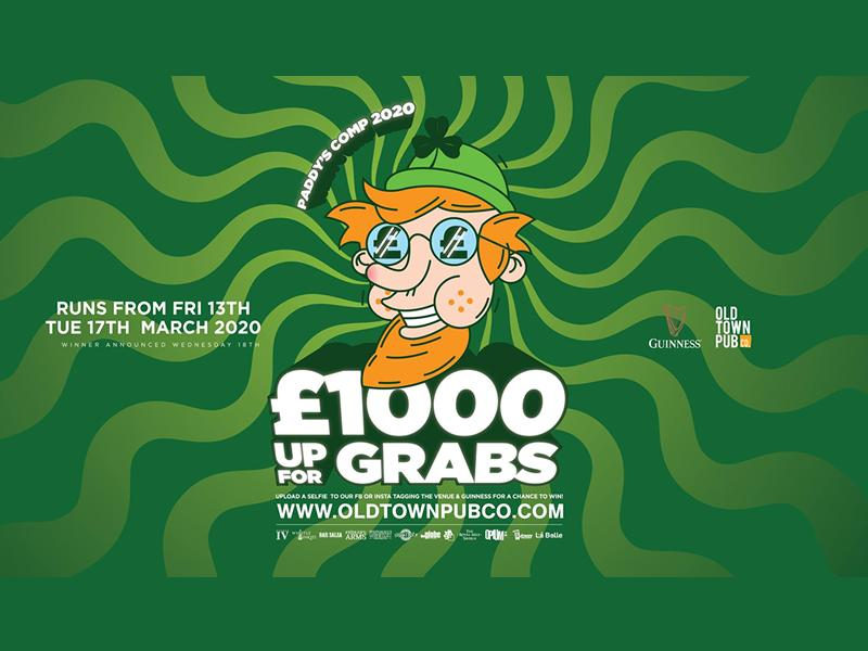 Paddy's Giving Away a Grand!