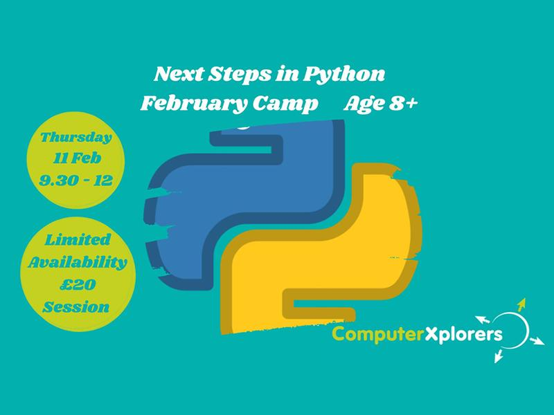 Next Steps in Coding with Python - February Camp for Kids