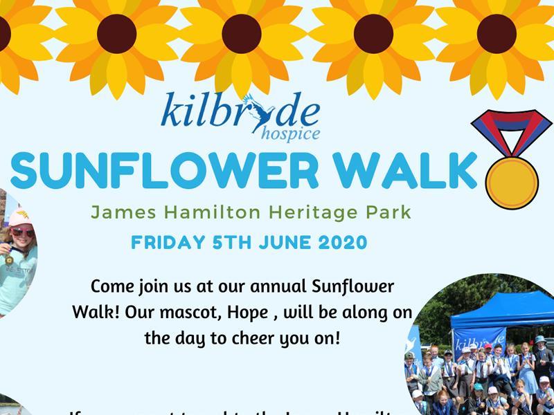 Kilbryde Hospice: Sunflower Walk - POSTPONED