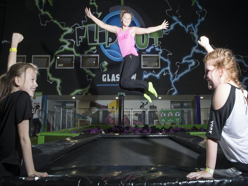 Jump into the festive spirit at Flip Out Glasgow