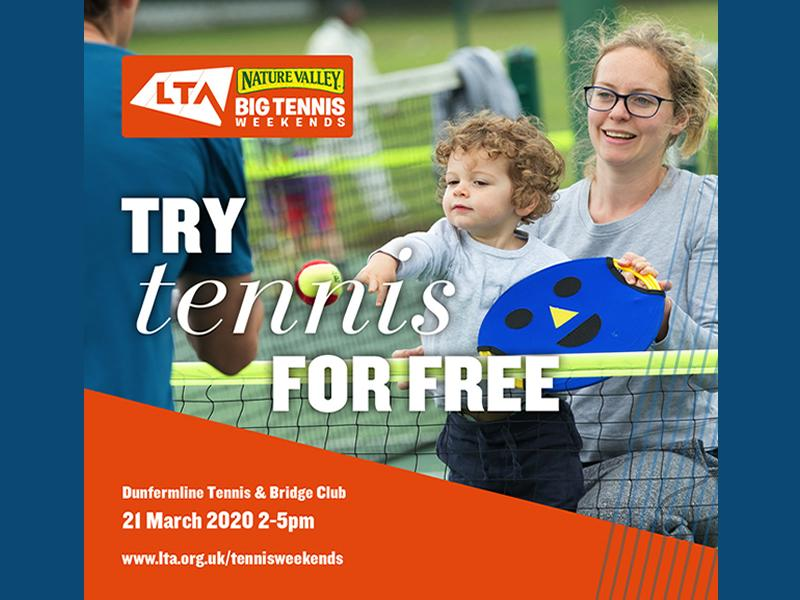 Free Tennis Open Day - CANCELLED